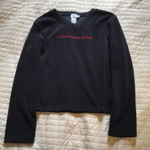 Black Calvin Klein Jeans Fleece Top